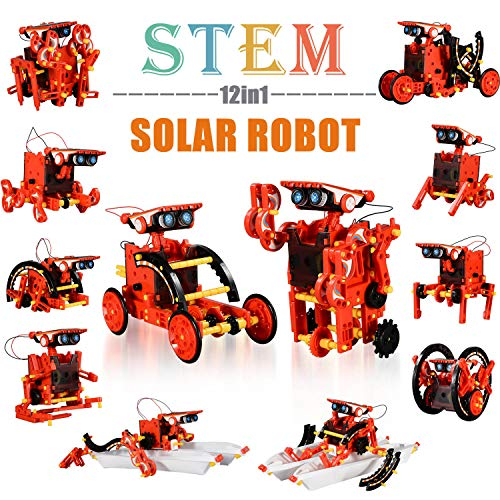 Education STEM 12-in-1 Solar Robot Kit Toys, DIY Learning Building Science Experiment Kit for Kids...