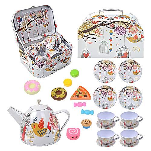 BEIAOSU Teeservice Set Teeset für Kinder Kaffeeservice Geschirr aus Metall