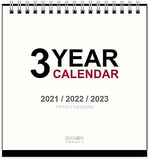 """概要プランナーカレンダー、3年間の卓上カレンダー2021〜2023 calendarOfficeカレンダー表パッド(6.2xの5.8"""" )で、2021年のためのデスク月間カレンダー、"""