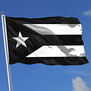 A13UDQ Outdoor Flags Puerto Rico Black & White Protest Flag 1 3X5 Ft Flag for Outdoor Indoor Home Decor Sports Fan Football Basketball Baseball Hockey