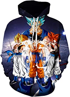 Men/Women/Boys/Girls Anime Dragon Ball Z Goku Hoodies 3D Print Pullover Sweatshirts Jacket S-6XL
