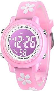 ساعة الأطفال، ساعة كرتون ثلاثية الأبعاد، ساعة رياضية رقمية مع 7 أضواء ملونة ومنبه - هدايا للبنين والبنات
