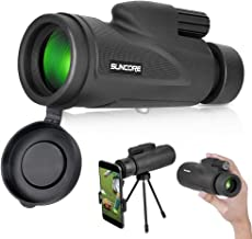 Monocular Telescope with Low Night Vision – Evershop High Power Monoculars for Adults and Kids with Tripod and Smartphone Holder for Bird Watching Hunting Camping Travelling Wildlife Secenery