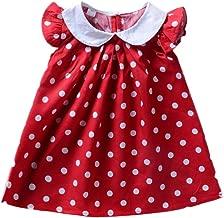 Bebogo Infant Baby Girls Polka Dot Printed Ruffled Sleeves Frock Dress Toddler Summer Sundress