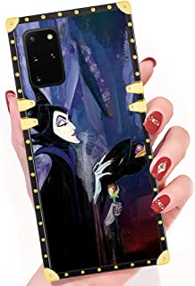 DISNEY COLLECTION Samsung Galaxy S20 Plus Case Sleeping Beauty Maleficent Tattoo Square Phone Case Soft TPU 360 Degree Luxury Shockproof Protective Case for Samsung Galaxy S20+ 5G 6.7 Inch 2020