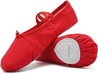 e62135353 Amazon.com  Ballet Slippers   Pointe Shoes - Red   Ballet   Dance ...