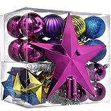 WeRChristmas - Juego de decoración navideña (42 Unidades, plástico, inastillable, con...