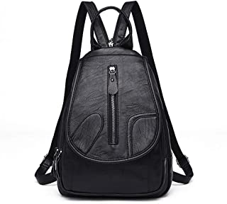 XHHWZB Shoulder Bags - Soft Face PU Leather Fashion Casual Travel Chest Bag Backpack Youth Casual Double School Bag