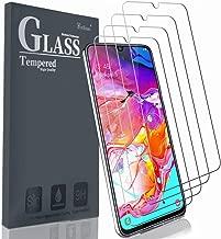 Ferilinso Vetro Temperato per Samsung Galaxy A70, A70S Pellicola Vetro,[4 Pack] Pellicola Protettiva in Vetro Temperato con Garanzia di Sostituzione a Vita per Samsung Galaxy A70, A70S