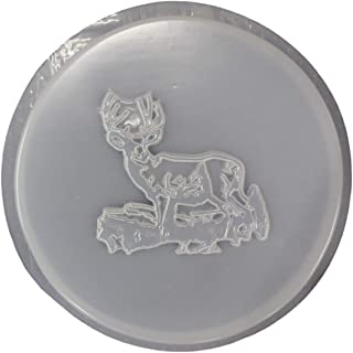 Round Deer Stepping Stone Concrete Plaster Mold 1090