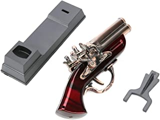 Funny Lighter,Gun Shape Windproof Metal Flame Gas Butane Lighter Gift Decoration