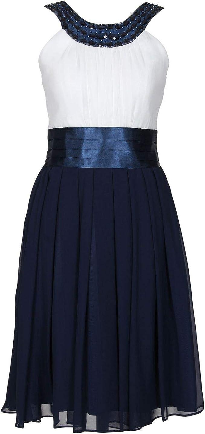Gol G.O.L.   Festliches Chiffon Kleid Mädchen, blau weiß   9 ...