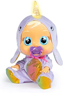 Bebés Llorones Narvie Real Crying Interactive Doll with Pacifier and Unicorn Pajamas