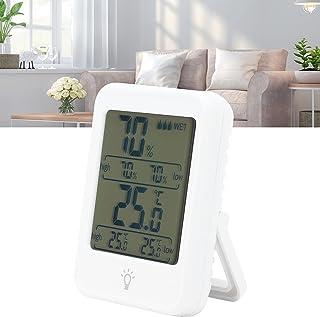 Thermomètre d'ambiance, écran LCD rétro-éclairage thermomètre numérique à piles pratique haute précision pour la maison po...