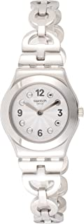 Swatch Women's Netural YSS323G Silver Stainless-Steel Swiss Quartz Fashion Watch