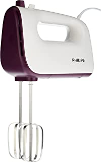 PHILIPS Daily Hand Mixer HR3740/11: 400W, 5 speeds and turbo, wire beaters and dough hooks, easy to clean, easy to eject. ...