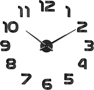 SOLEDI Mute DIY Reloj de Pared, 3D Reloj Pared Adhesivos, Sin Marco Tamaño Grande