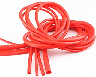 QIKE Universal 4mm/6mm/8mm/12mm /Inner Diameter High Performance Silicone Vacuum Hose Tube Kit (red, 4size)