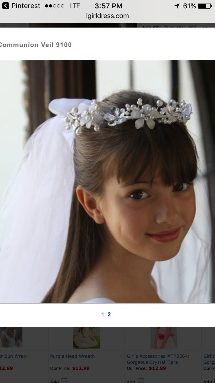 first communion veil for girls limited quantity applied