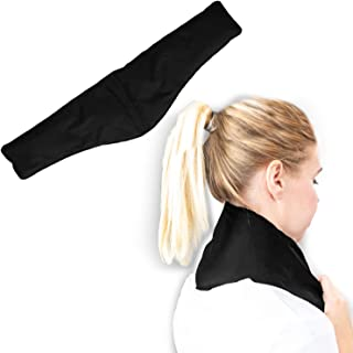 Hot and Cold Neck Wrap by Soothing Company - Ice Packs for Injuries, Neck, Shoulder, Swelling, Headaches- Reusable,Flexible Heating and Cooling Therapy Pack- Microwaveable Compress for Pain Relief