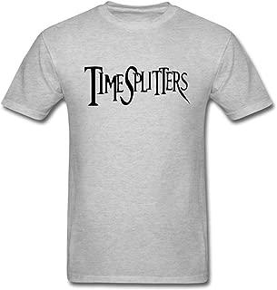 ZHENGXING Men's TimeSplitters Video Game Logo T-Shirt S ColorName Short Sleeve
