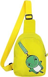 Suillty Kids Cute Small Dinosaur Crossbody Sling Backpack Travel Hiking Chest Bag Shoulder Bag Daypack