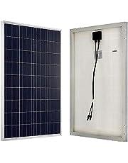 ソーラー 蓄電池 の専門店 SEKIYA 高耐久25年 高効率 低照度でも使える 多結晶 ソーラーパネル 100W 18V サポート完全無料