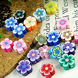 Wooden Daisy beads for an easy  Girl Scout Founder's Day craft