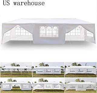 Teekland 10'x30' Outdoor Canopy Party Wedding Tent, Sunshade Shelter, Outdoor Gazebo Pavilion with 8 Removable Sidewalls Upgraded Thicken Steel Tube (10' x 30' / 8 Removable Sidewalls-1)