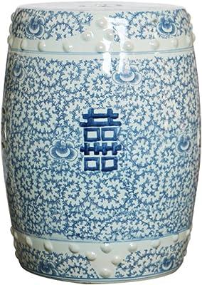 ZM Chino Antiguo Azul Y Blanco Hola Cerámica Serie General Tarro De Almacenamiento Jar Jar Florero
