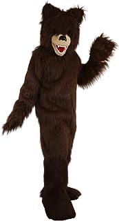 Langteng brun björn lång hårig tecknad maskot kostym äkta bild 15-20 dagar leverans märke