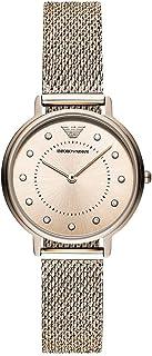 ساعة يد للنساء بلون زهري من امبوريو ارماني