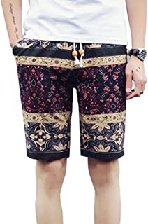 XFentech Hombres Multicolor Ajustable & Bolsillos Pantalonetas Casual Deporte Pantalón Shorts de Playa Surf Cortos