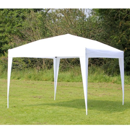 Palm Springs 10 x 10 EZ POP UP White Canopy New Gazebo NO Sidewalls