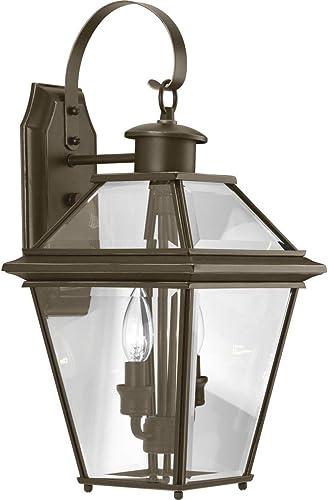 discount Progress Lighting sale P6616-20 Burlington Two-Light Med Wall Lantern, sale Oil Rubbed Bronze online
