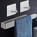 Handtuchhalter ohne Bohren Handtuchstange Selbstklebend handtuchhalter Bad für Badezimmer Küche, 304 Edelstahl Gebürstet 33CM