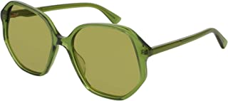 Gucci GG0258S GREEN/GREEN women Sunglasses