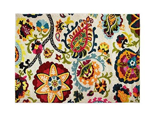 Alfombrista Diseño 29 Alfombra Moderna Acrílico Multicolor 60x110x1 cm