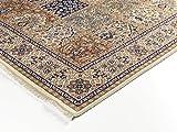 TIWA GHOM echter klassischer Orient Felderteppich handgeknüpft in creme-creme, Größe: 250x300 cm - 4