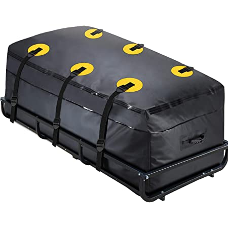 """MODOKIT Cargo Carrier Bag 100% Waterproof 60""""x24""""x26"""" (22 Cu Ft) Hitch Bag Include 6 Reinforced Straps Fits Car Truck SUV Vans with Basket Hitch Mount"""