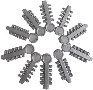 10Pcs Dental Ligature Rotary Pad Orthodontics Elastic Rubber Bands (Gray)
