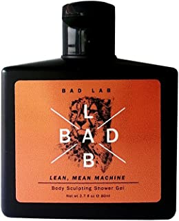 Bad Lab Gift Set Lean Mean Machine, Active Sport, Fatigue-fighting, Booster Body Sculpting Shower Gel for Men, Travel Size (2.7 oz), Mens Toiletries Gift Set