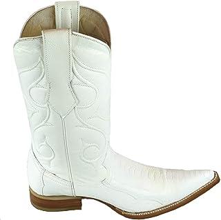 Mens Natural Genuine Ostrich Leg Leather Cowboy Western Handmade Luxury Boots