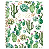 🌵 OVERVIEW - Jul 2021-Jun 2022 classical and stylish planner with excellent texture, featuring 12 months of monthly and weekly pages for easy year-round planning. Premium quality cover with metal twin-wire and lay-flat spiral binding. 🌵 MONTHLY - Mon...