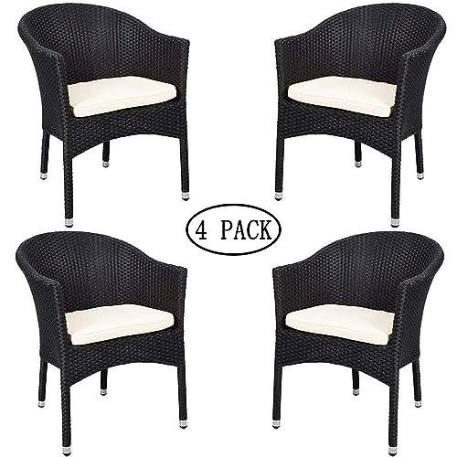 Terrific Black Wicker Chairs Amazon Com Inzonedesignstudio Interior Chair Design Inzonedesignstudiocom