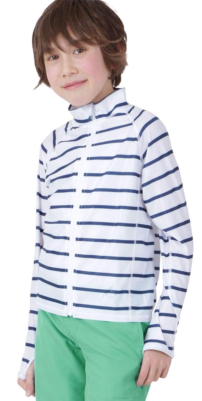 西部プロフェッショナルアーチKICKS(キックス) ラッシュガード キッズ フードなし 前開き フルジップ シャツ 全20色柄 90~150サイズ 長袖 UVカット UPF50 + 指穴つき