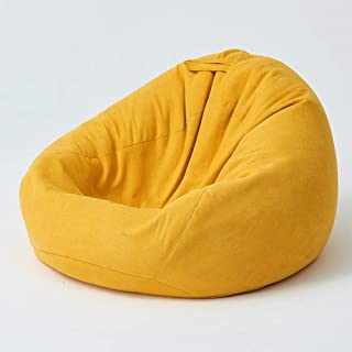 Recliner Gaming Bean Bag Lazy sofa Bean bags Large Indoor Living Room Gamer Beanbag Suitable for Living room  Bedroom Yellow 90x110cm
