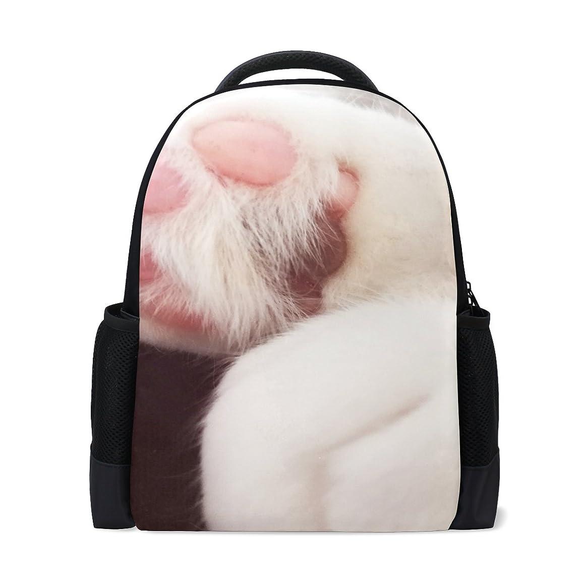 ひも討論指導するAOMOKI リュックサック バッグ 男女兼用 メンズ レディース 通勤 通学 大容量 猫爪 ピンク