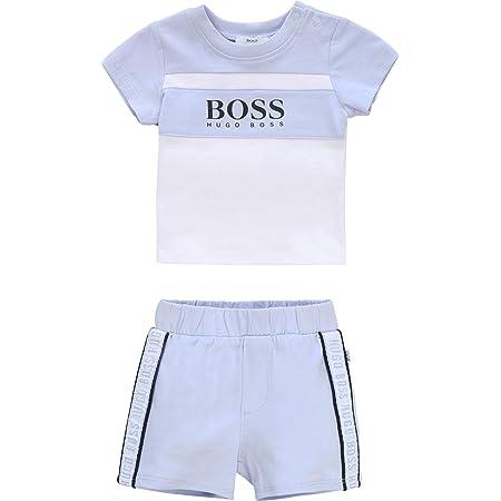 Ensemble T-shirt + short coton BOSS BEBE COUCHE CIEL 1MOIS