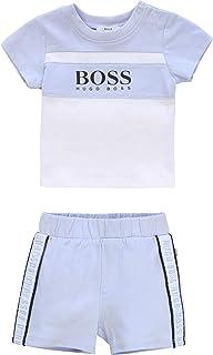 Ensemble T-shirt + short coton BOSS BEBE COUCHE CIEL 6MOIS